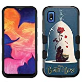 for Samsung Galaxy A10e Case, Galaxy A10e Hard+Rubber Dual Layer Hybrid Heavy-Duty Rugged Impact Cover Case - Beauty and The Beast #G