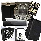 1A PHOTO PORST Jubiläums Angebot Panasonic Lumix TZ71 EG-S silber Digitalkamera+SD 16 GB Speicherkarte+Tasche+Display-Schutzfolie+Ersatzakku+Mikrofasertuch