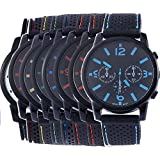 Yunanwa 8 Assorted Wholesale Men's Sports Silicon Watch Wrist Watches Riding Running