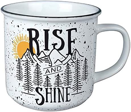 Carson Porcelain Rise And Shine Vintage Mug Drinkware product image