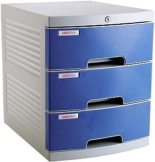 Nologo SH-CHEN Desktop Drawer Sorter, Environmentally Friendly Plastic 3-Layer Newspaper Racks Drawer Lockable Desktop Drawer Organizer(Size:12in15.2in14.6in) (Size : 3-Layer) File Cabinets