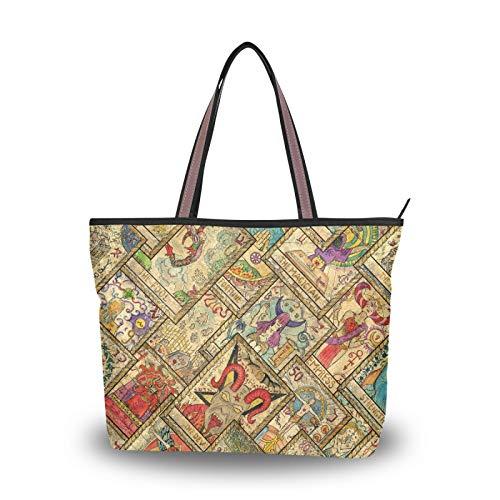 Bolsos con correa de peso ligero, bolso de compras, bolso de mano, bolsos de hombro para mujeres, niñas, señoras, patrón de estudiantes, cartas de tarot, diseño diagonal