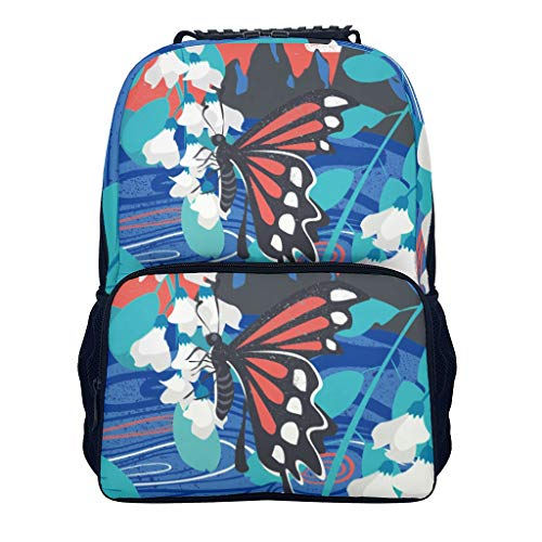 butterfly butterfly butterfly blackblack Adult's Daypack Classic Causal for Gift butterfly white onesize