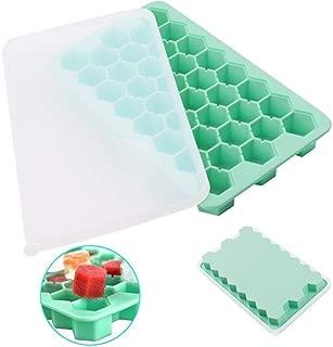 Ice Cube Tray 製氷皿(フタ)蓋付き シリコン製アイスキューブトレ 製氷皿 小粒 氷 冷凍庫 ミニ こつぶ 氷38個取 - 冷凍庫で凍らせるだけで透明の氷を作れる氷製氷器をした氷が作れるアイストレイ