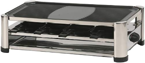 Ohmex OHM-GRIL-4500-Appareil 3 en 1-1500 Watts-Raclette 8 Personnes, Plaque Amovible pour Grill/Crêpe-Thermostat Réglable