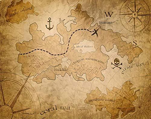 Y·JIANG Pintura vintage por números, mapa del tesoro pirata medieval Old Fantasy Game Antique Abstract, pintura acrílica al óleo por números para adultos y niños, decoración de pared, 40,6 x 40,6 cm