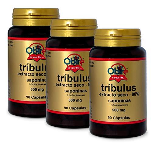 Tríbulus 500 mg. (90% saponinas) 90 cápsulas (Pack 3 unid.)