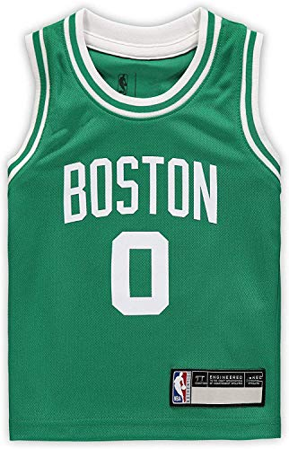 Outerstuff NBA Infants Toddler Official Name and Number Replica Home Alternate Road Player Jersey (4T, Jayson Tatum Boston Celtics Green Icon Edition)