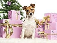新しいパズル1000ピース動物ジャックラッセルテリア犬お正月ギフト動物クリスマスギフト50x70cm