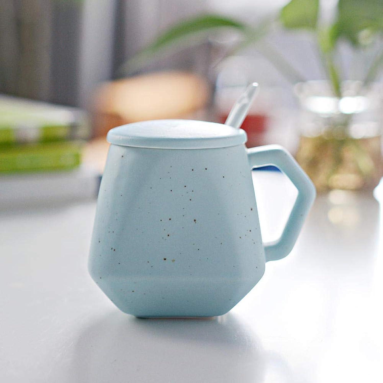 Tasse en céramique tasse de lait tasse de petit déjeuner tasse d'eau tasse de café paire tasse tasse créative avec couvercle @ diahommet étoile plein de bleu