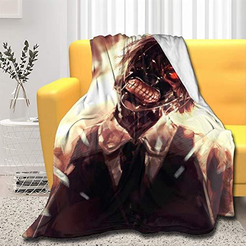 Tokyo Ghoul - Coperta ultra morbida per letto e divano (Tokyo Ghoul, 80 x 160 pollici per adulti)