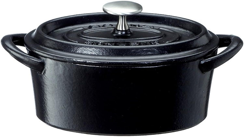 buena reputación BONNE BONHEUR Bon Bonaire Oval Cocotte 14cm negro negro negro 3623 (Japn importacin   El paquete y el manual estn escritos en japons)  Compra calidad 100% autentica