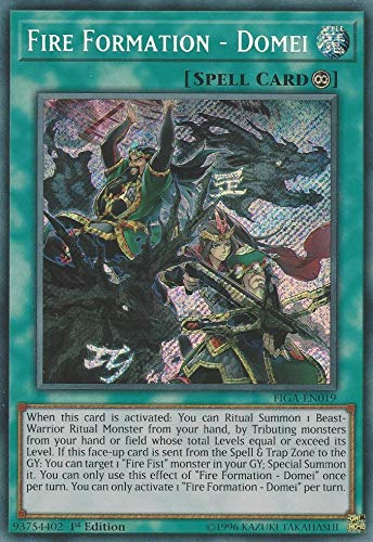Yu-Gi-Oh! - Fire Formation - Domei - FIGA-EN019 - Secret Rare - 1st Edition - Fists of The Gadgets