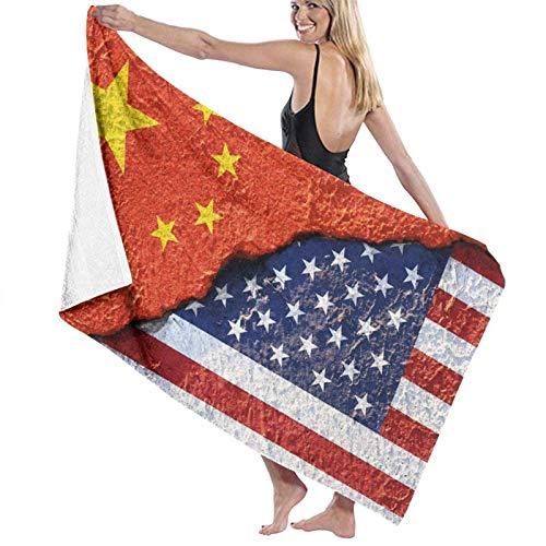 Estados Unidos Bandera de China Toallas de Playa de Pared Poliéster Sábanas de baño Suaves de Secado rápido Verano Fresco al Aire Libre Toallas de baño Grandes para Estera de Yoga Manta de Playa