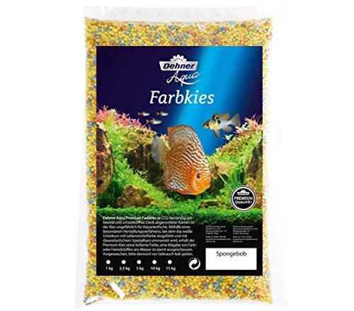 Dehner Aqua Aquarienkies Farbkies, Körnung 2 - 3 mm, 5 kg, gelb/hellblau/orange