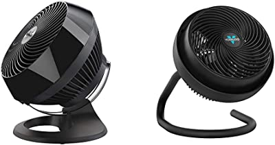 Vornado 660 Large Whole Room Air Circulator Fan with 4 Speeds and 90-Degree Tilt, 660-Large, Black & 723 Full-Size Whole Room Air Circulator Fan
