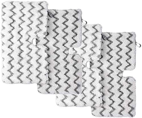 De Galen Piezas de repuesto 6 almohadillas lavables para mopa de vapor Shark S3101 S3251 SK460 SK410 S3101n2 S3250 SK435CO SK140 SK141 (tamaño : 4 unidades)