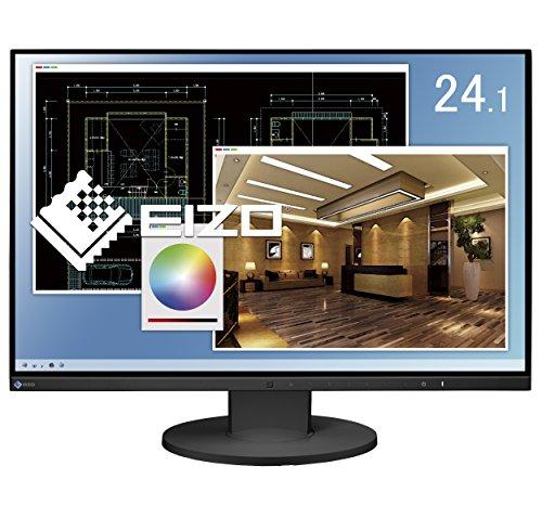 『EIZO FlexScan 24.1インチ カラー液晶モニター ( 1920×1200 / IPSパネル / 5ms / ノングレア/ ブラック ) EV2455-BKR』のトップ画像