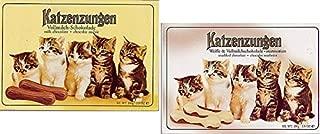 Sarotti Katzenzungen Cat Tongues Variety Pack - Milk Chocolate and Marbled White & Milk Chocolate