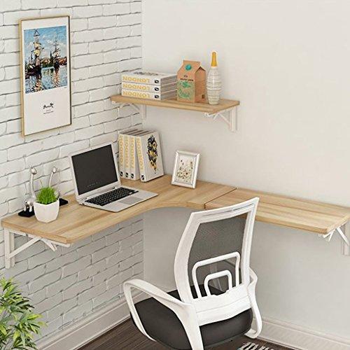Mesa de estudio esquinera de pared