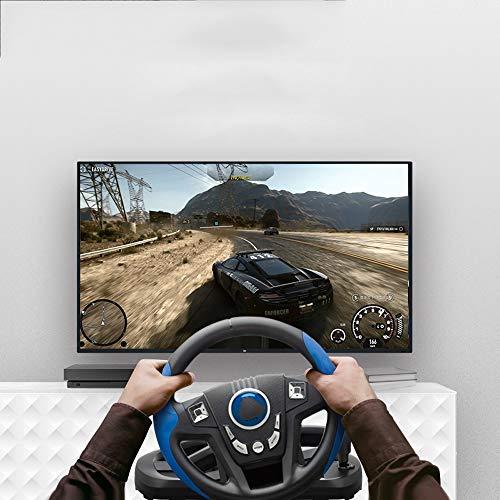 WSMLA Racing Wheel Universal avec des pédales for PS4 Slim PS4 Pro Xbox One Xbox One S Jeu PS3 Flight Joystick avec USB Vibration Ordinateur PC Simulation Flight Control Manipulateur