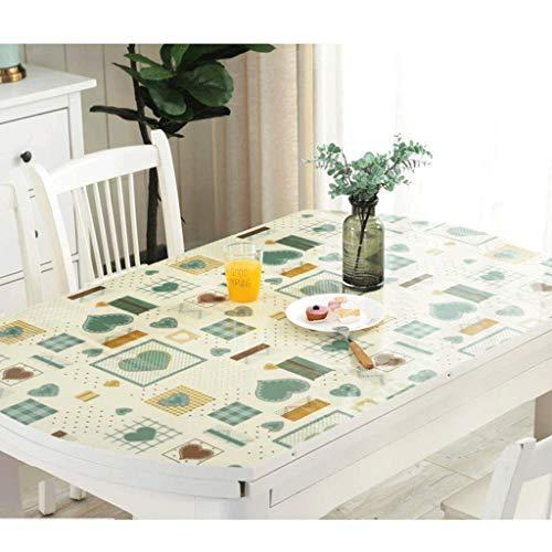 GZQDX Protector de Mesa de PVC, manteles a Prueba de Aceite, de plástico Transparente, decoración de Escritorio Clara for la Mesa de Cocina de Comedor (Color : B)