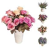 Flores/Plantas Artificiales Decoración Jarrones para Boda Eventos,...