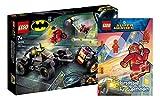 Collectix Lego DC Comics Super Heroes 76159 Jokers™ - Juego de caza de persecución de trikes + juego de rompecabezas para superhéroes (cubierta blanda)
