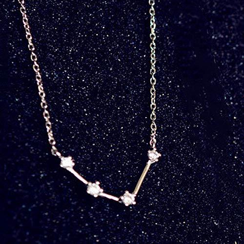 MCAdianpu Halsketting met 12 staten, dames, 925 sterling zilver, met waterman, raam hanger, sieraden, beste vrienden, geschenken