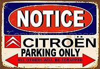 2個 シトロエン車の駐車場は複製コーヒーフーまたはホームメタルティンサイン8X12インチのみを見てください