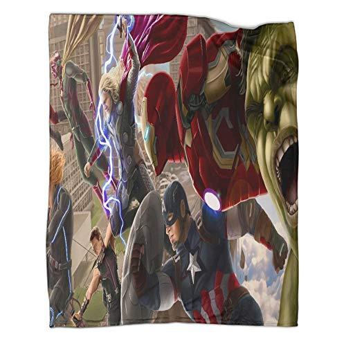 Xaviera Doherty Manta de forro polar supersuave de The Avengers Movie Thor Iron Man, 80 x 100 cm, de gama alta