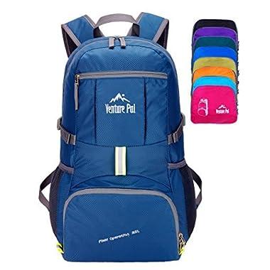 Venture Pal Lightweight Packable Durable Travel Hiking Backpack Daypack-Navy Blue