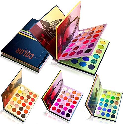 Beauty Glazed 72 Color Press Buch Lidschatten-Palette Schatten palette Glitter Matte Shimmer Natürliches Professionelles Lidschattenpulver Langlebige Wasserdichte Pigmentiert Make-up-Palette