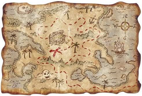 "Biestle Plastic Treasure Map 12"" x 18"" : Amazon.co.uk: Toys & Games"