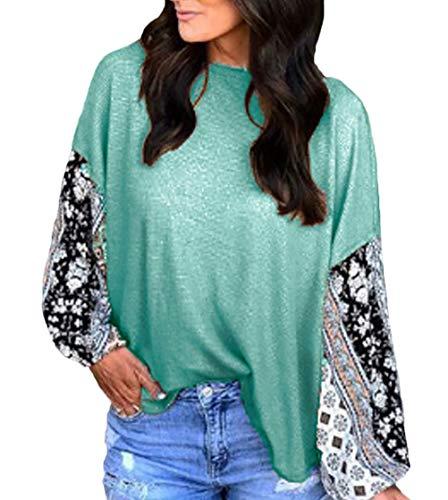 Camisa De Manga Larga Mujer Primavera Cuello Redondo Fashion Vintage Camisetas Tops...