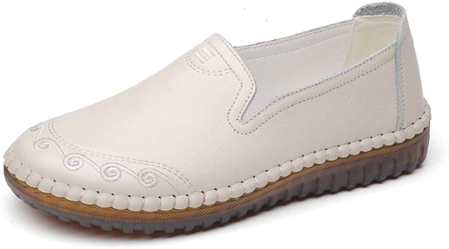 ProDIgal Casual Women's Genuine Leather Penny Loafers Driving Moccasins Slip-On Boat Flats shoes