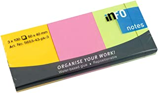 Info Sticky Notes 40x50 MM, 100 Sheets Set Of 3