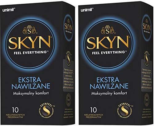 SKYN® Extra Lubricated, Condones sin látex extra lubricados - Pack de 10 x 2