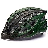 Briko Quarter–Casco de bicicleta, unisex, tamaño L, color 983 - GREEN DARK BLACK, tamaño large