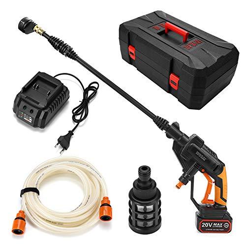 SISHUINIANHUA 20V tragbare drahtlose elektrische Wasserpistolen Hochdruck-Auto-Waschmaschine Maschine Düsenschlauchpumpe Schaumlanze 12V Batterie Rechargable