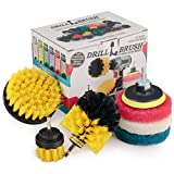Drillbrush Power Scrubber Brush Set - Drill Brush Attachment - Grout Brush Drill...