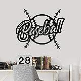 Wall Sticker Art PVC rimovibile Wall Sticker Baseball Wall Sticker gioco americano palla Sport adesivo camera da letto 50x40cm