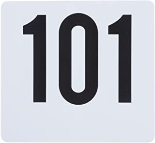 ROY TN 101 150 -Royal Industries Number 101-150 Plastic Number Card Set, Plastic, 4'' by 4'', White Base with Black Numbers