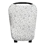 """Baby Car Seat Cover Canopy and Nursing Cover Multi-Use Stretchy 5 in 1 Gift""""Champ"""" by Copper Pearl"""