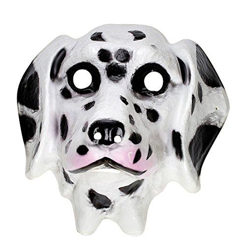 Amakando Masque pour Enfant Dalmatien déguisement Chien Visage en Plastique fête d'anniversaire Animal Accessoire Carnaval