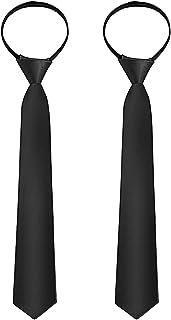2 قطعه کراوات زیپ دار برای پسران یقه گردن قابل تنظیم بند بند گردن قابل تنظیم