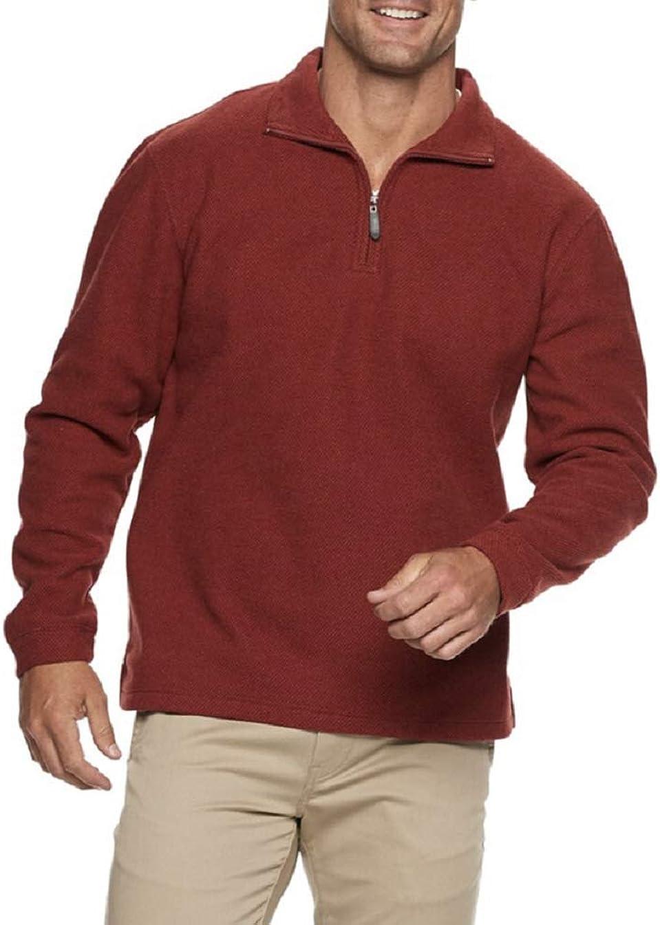 Men's Luxe Touch Quarter-Zip Fleece Pullover