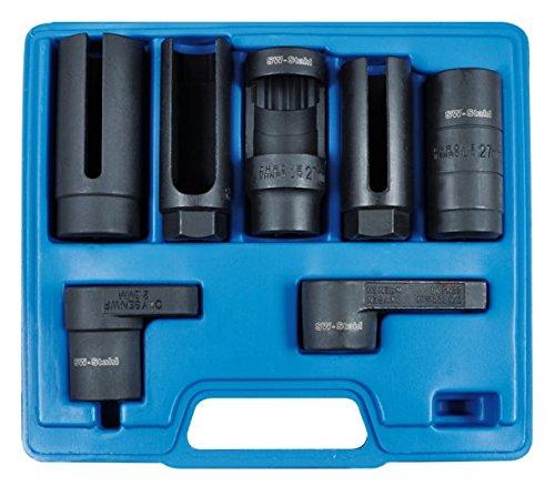 SW-Stahl 26045L Steckschlüsseleinsätze für Lambdasonden, Injektoren, Thermoschalter oder Einspritzdüsen, im Koffer, 7-teilig
