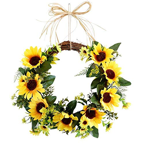 Customized Bee Day Party Decor Wreath Sunflower Bumblebee Garland For Home Decor Indoor Outdoor Hanging Ornaments ?For Front Door Bedroom Wall Window Home Office (wreath)