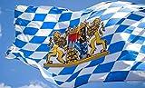 TK Gruppe Timo Klingler Oktoberfest 60 * 90 cm Flagge Bayernflagge bayrische Fahne zum Aufhängen mit Ösen als Deko Dekoration Oktoberfest